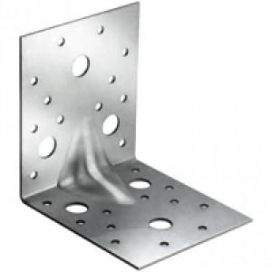 Уголок крепежный усиленный 105х105х 90х2,0мм, цинк  (35) шт)