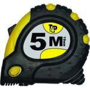 Рулетка  5м х 19мм обрезиненный корпус, 3 фиксатора магнит